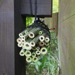 狩りバチ(ドロバチ)の営巣用の竹筒 使用前